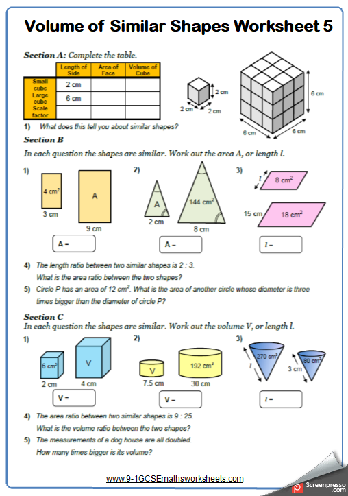 Congruence And Similarity Worksheets Cazoomy