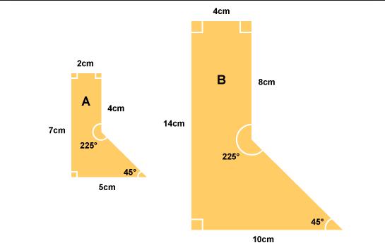 similar shapes maths worksheet example