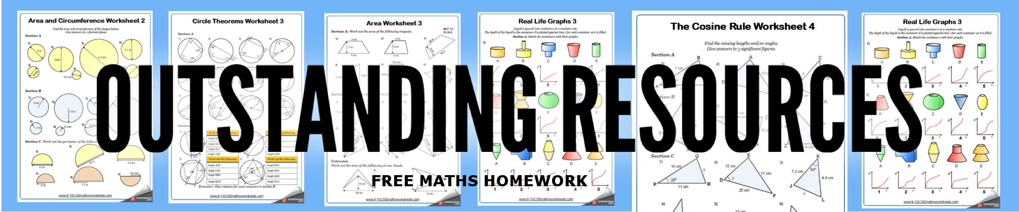 free maths homework