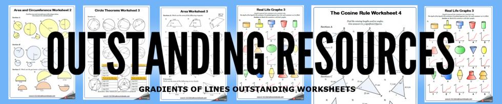 gradients of lines worksheets