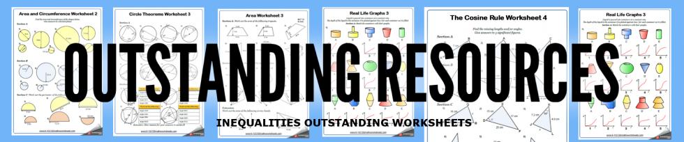 inequalities worksheets