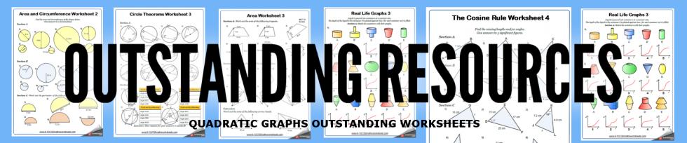 quadratic graphs worksheets