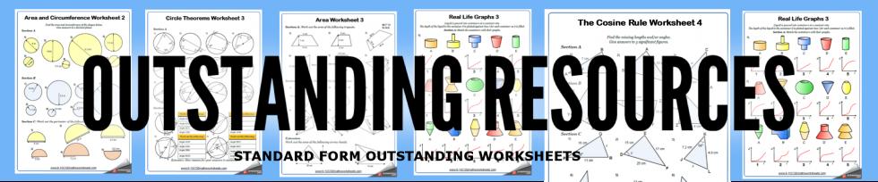 standard form worksheets