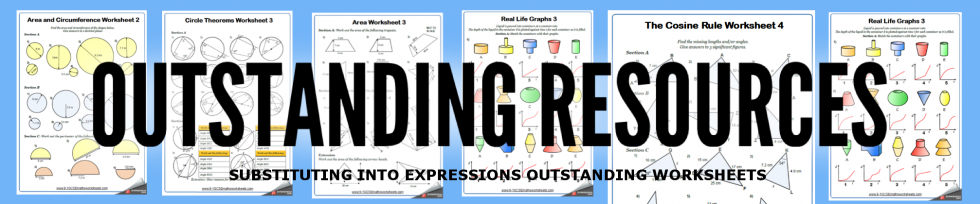 substituting into expressions worksheets