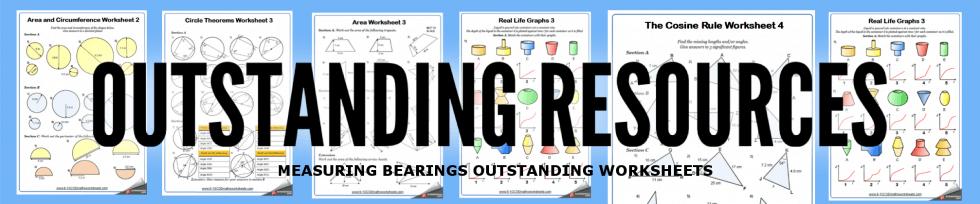 measuring bearings worksheets