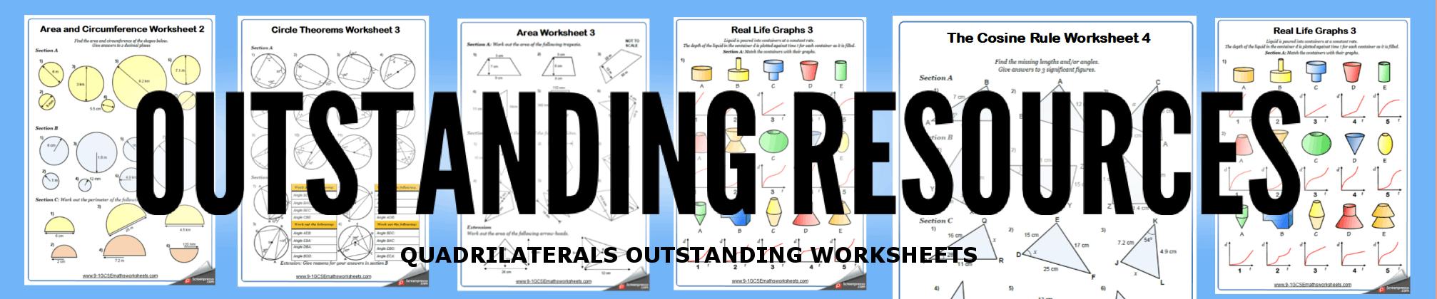 quadrilaterals worksheets