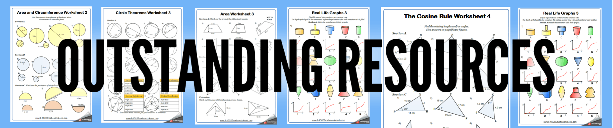 Speed-Time Graphs Worksheets