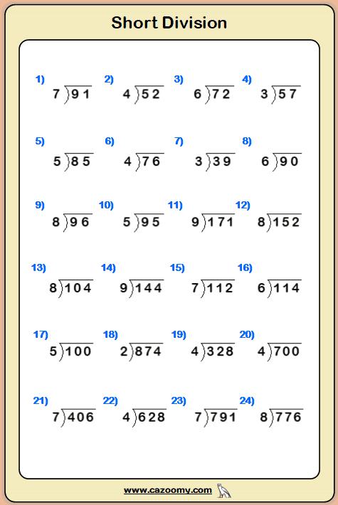 Free Maths Worksheet